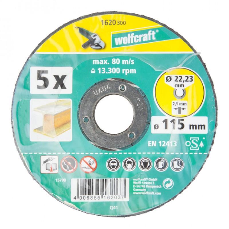 WOLFCRAFT 1622300 საჭრელი დისკი 125x2.5x22.2 მმ (მეტალი)