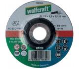 WOLFCRAFT 1660999 საჭრელი დისკი 115x2.5x22.2 მმ (უნივერსალური)