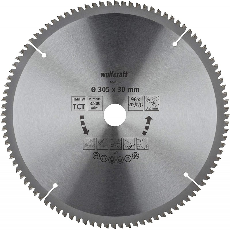 WOLFCRAFT 6544000 საჭრელი დისკი 305 x 30 x 96T (უნივერსალური)