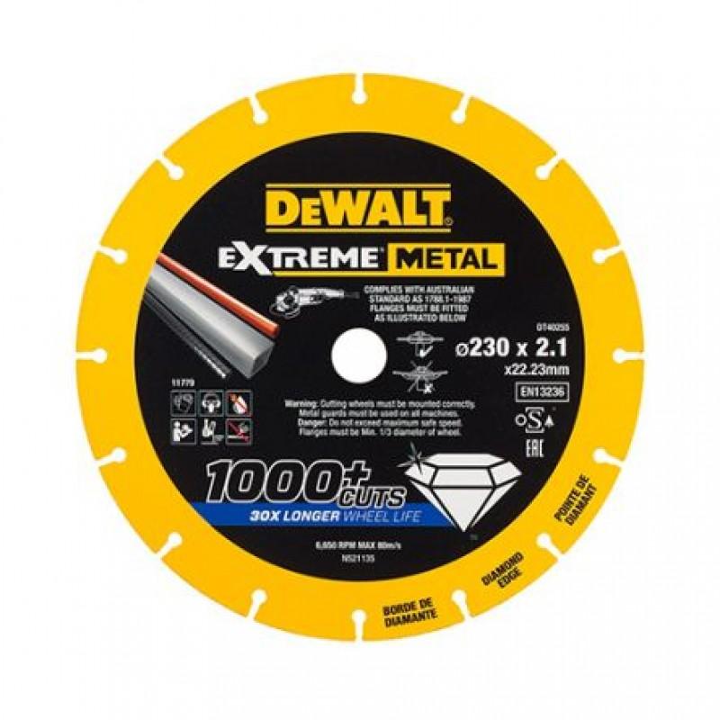 DEWALT DT40255 ალმასის საჭრელი დისკი 230 X 2,1 X 22.2 მმ (მეტალი)