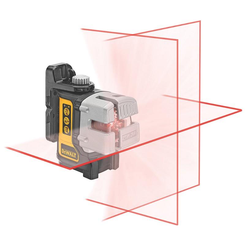 1.2. DEWALT DW089K ლაზერული თარაზო  3 x 180° (წითელი)
