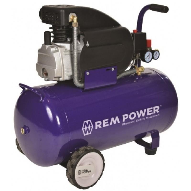 1.REM POWER 50 L Blue ელექტრო კომპრესორი (50 ლ)