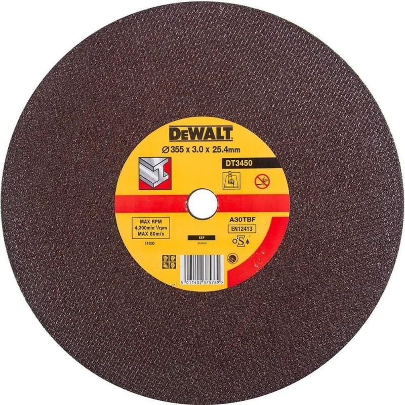 1.DEWALT DT3450 საჭრელი დისკი 355 X 3,0 X 25,4 მმ (მეტალი)