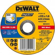DEWALT DT43901 საჭრელი დისკი FAST CUT 115 X 1,0 X 22.2 მმ (უჟანგავი ფოლადი)