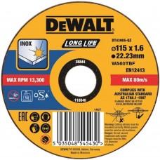 DEWALT DT43905 საჭრელი დისკი LONG LIFE 115 X 1,6 X 22.2 მმ (უჟანგავი ფოლადი)
