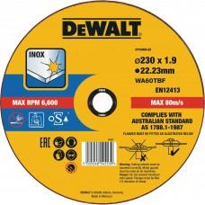 DEWALT DT43909 საჭრელი დისკი 230 X 1,9 X 22.2 მმ (უჟანგავი ფოლადი)
