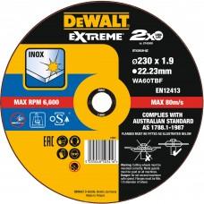 DEWALT DT43939 საჭრელი დისკი EXTREME LONG LIFE  230 X 1,9 X 22.2 მმ (უჟანგავი ფოლადი)