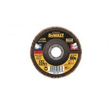 DEWALT DT30622 სახეხი დისკი EXTREME 125 X 22.2 მმ / G80 (უჟანგავი ფოლადი)