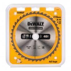 DEWALT DT1953 საჭრელი დისკი 216 X 30 X 40T (ხე / ხე-მასალა)