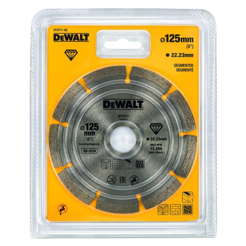 DEWALT DT3711 ალმასის საჭრელი დისკი (125 მმ) (უნივერსალური)