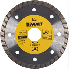 1.DEWALT DT3712 ალმასის საჭრელი დისკი 125 მმ TURBO (უნივერსალური)