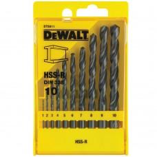 DEWALT DT5911 ბურღის პირების ნაკრები მეტალისათვის HSS-R (10 ც)