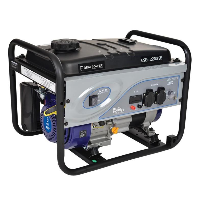 1.REM POWER GSEm 2200 SB ბენზო გენერატორი (PROFESSIONAL LINE)