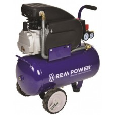 1.REM POWER 24 L Blue ელექტრო კომპრესორი (24 ლ)