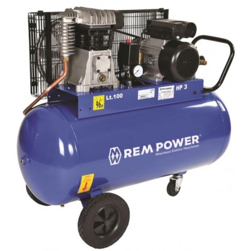 1.REM POWER E 351/9/100 ელექტრო კომპრესორი (100 ლ)