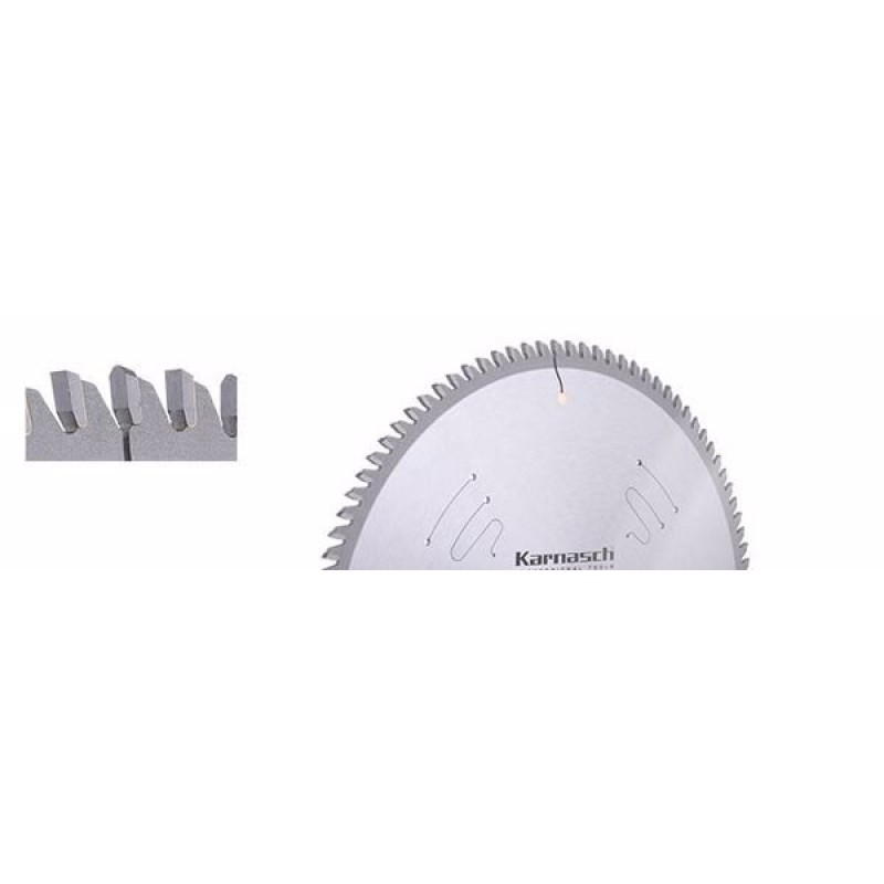 2.KARNASCH 11.1000.350.040 CT - საჭრელი დისკი 350X3.4/2,8X30 მმ, 108Z (Aluminium Positive)