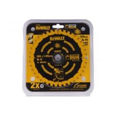 DEWALT DT10301 საჭრელი დისკი 165 x 20 x 40T (ხე-მასალა/ფანერა/ლამინატი/მდფ)
