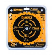 DEWALT DT10303 საჭრელი დისკი 184 x 16 x 40T (ხე-მასალა/ფანერა/ლამინატი/მდფ)