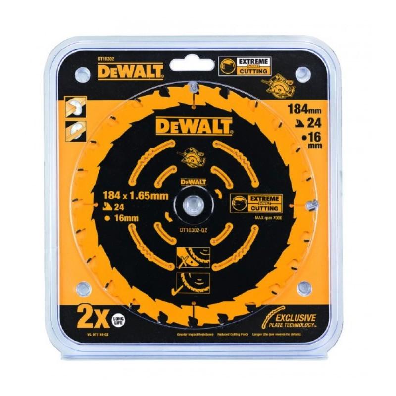 1.DEWALT DT10303 საჭრელი დისკი 184 x 16 x 40T (ხე-მასალა/ფანერა/ლამინატი/მდფ)