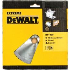 DEWALT DT1088 საჭრელი დისკი 165 x 20 x 54T (ხე-მასალა/ალუმინი)