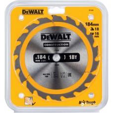 DEWALT DT1938 საჭრელი დისკი 184 x 16 x 18T (ხე / ხე-მასალა)