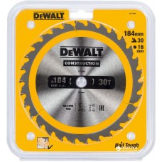 DEWALT DT1940 საჭრელი დისკი 184 x 16 x 30T (ხე / ხე-მასალა)