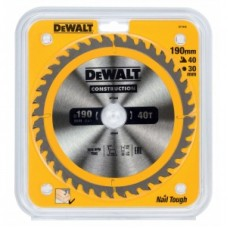 DEWALT DT1945 საჭრელი დისკი 190 x 30 x 40T (ხე / ხე-მასალა)