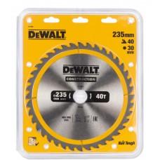 1.DEWALT DT1955 საჭრელი დისკი 235 x 30 x 40T (ხე / ხე-მასალა)