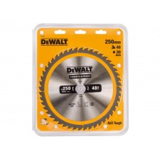 DEWALT DT1957 საჭრელი დისკი 250 x 30 x 48T (ხე / ხე-მასალა)
