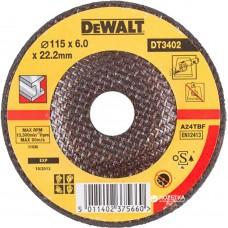 DEWALT DT3402 სახეხი დისკი 125 X 6,0 X 22.2 მმ (მეტალი)
