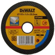 DEWALT DT3442 საჭრელი დისკი 115 X 1,0 X 22.2 მმ (უჟანგავი ფოლადი)