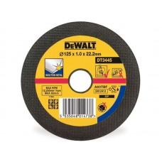 DEWALT DT3445 საჭრელი დისკი 125 X 1,0 X 22.2 მმ (უჟანგავი ფოლადი)