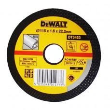 DEWALT DT3453 საჭრელი დისკი 115 X 1,6 X 22.2 მმ (ალუმინი)