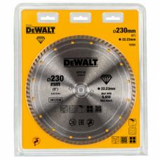 DEWALT DT3732 ალმასის საჭრელი დისკი (Turbo) 230 x 22.2 მმ (უნივერსალური)