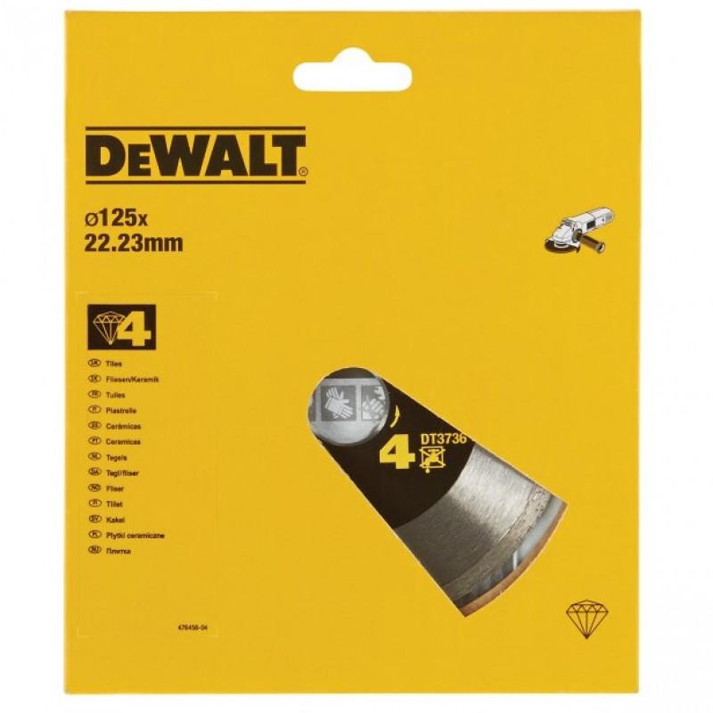 DEWALT DT3736 ალმასის საჭრელი დისკი 125 x 22.2 მმ (მარმარილო/გრანიტი/კერამიკა)