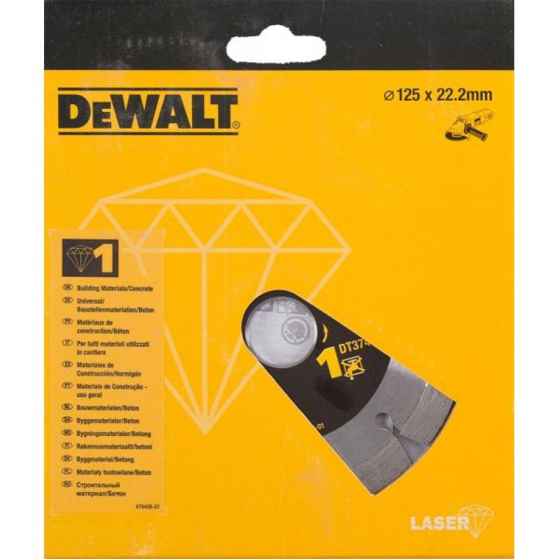 DEWALT DT3741 ალმასის საჭრელი დისკი 125 x 22.2 მმ (უნივერსალური)