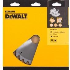 DEWALT DT4033 საჭრელი დისკი 190 x 30 x 28T (ხე/ხე-მასალა/ფანერა/ლამინატი/დსპ/მდფ)
