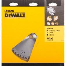 DEWALT DT4092 საჭრელი დისკი 184 X 16 X 48T (ფანერა/ხე/ხე-მასალა/პლასტიკი/ალუმინი)
