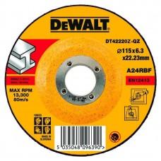 DEWALT DT42220Z სახეხი დისკი 115 X 6,3 X 22.2 მმ (მეტალი)