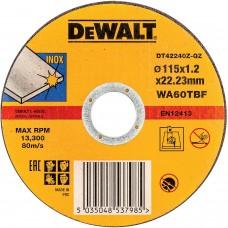 DEWALT DT42240Z საჭრელი დისკი 115 X 1,2 X 22.2 მმ (უჟანგავი ფოლადი)