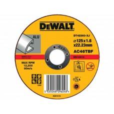 DEWALT DT42360Z საჭრელი დისკი 125 X 1,6 X 22.2 მმ (ალუმინი)