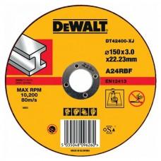 DEWALT DT42400 საჭრელი დისკი 150 X 3,0 X 22.2 მმ (მეტალი)