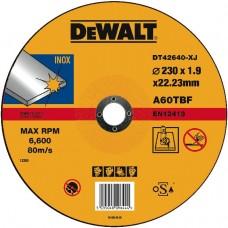 DEWALT DT42640 საჭრელი დისკი 230 X 1.9 X 22.2 მმ (უჟანგავი ფოლადი)