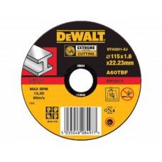 DEWALT DT43201 საჭრელი დისკი EXTREME 115 X 1,6 X 22.2 მმ (მეტალი)