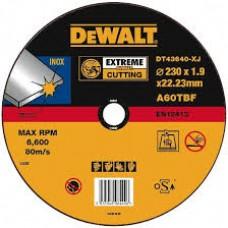 DEWALT DT43640 საჭრელი დისკი EXTREME 230 X 1,9 X 22.2 მმ (უჟანგავი ფოლადი)